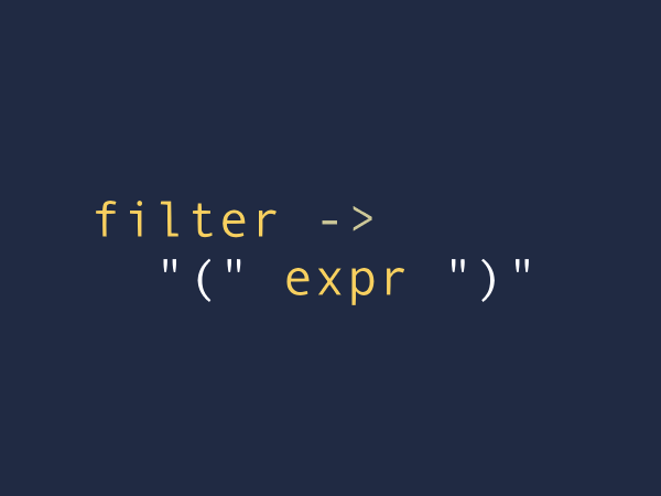An LDAP filter is an expression surrounded by parentheses.