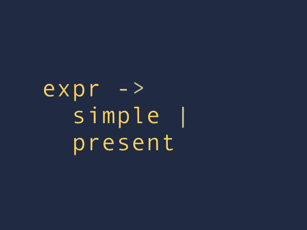 An expression can be simple or present.