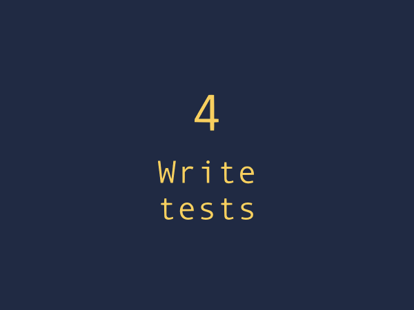 Best practice 4. Write more tests to check the relaxed rules.